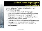 la fede come linguaggio e comunicazione12