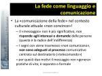 la fede come linguaggio e comunicazione14