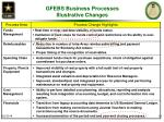 gfebs business processes illustrative changes