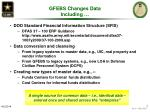 gfebs changes data including