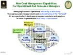 new cost management capabilities for operational and resource managers