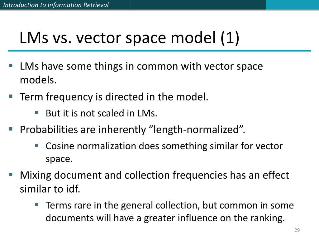 LMs vs. vector space model (1)