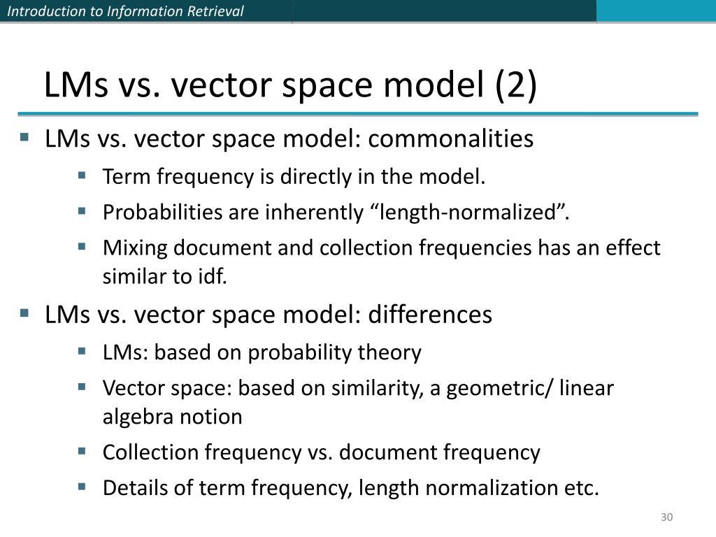 LMs vs. vector space model (2)