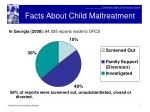 facts about child maltreatment