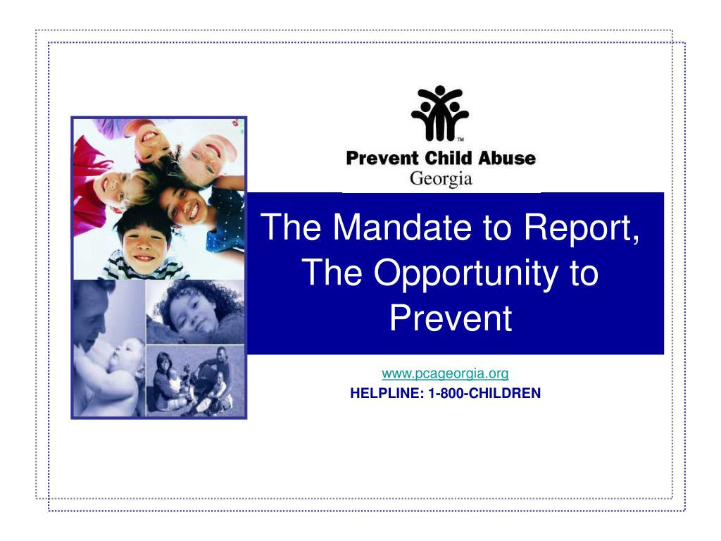 the mandate to report the opportunity to prevent l.