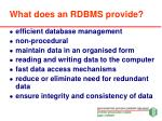 what does an rdbms provide