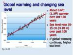 global warming and changing sea level
