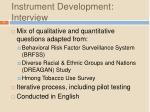 instrument development interview11