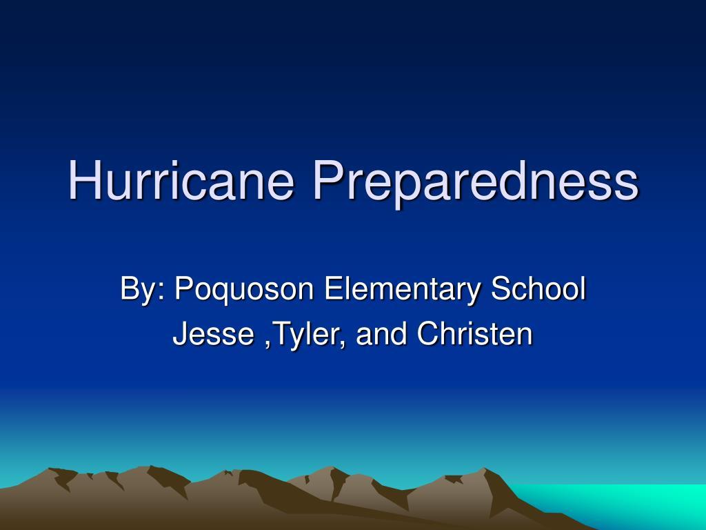 hurricane preparedness l.