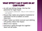 what effect can it have on my cash flow