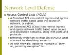 network level defense36