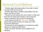 network level defense37