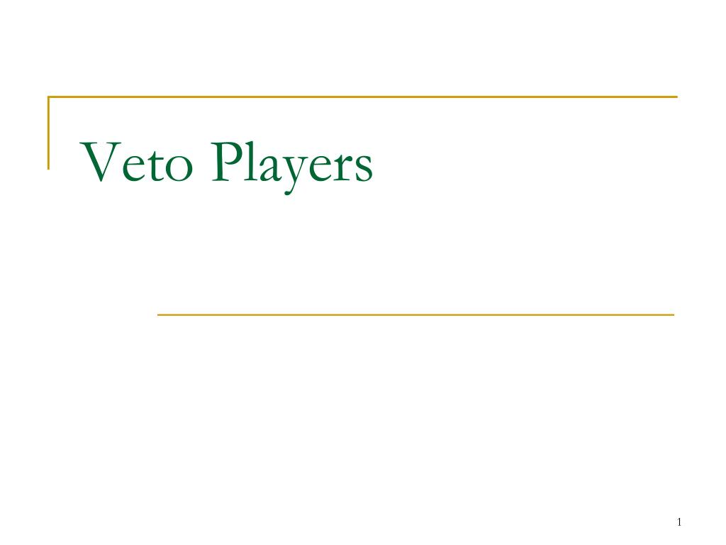 veto players l.