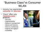 business class vs consumer wlan