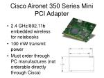 cisco aironet 350 series mini pci adapter