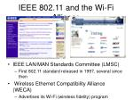 ieee 802 11 and the wi fi alliance