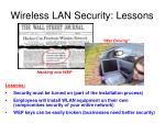 wireless lan security lessons