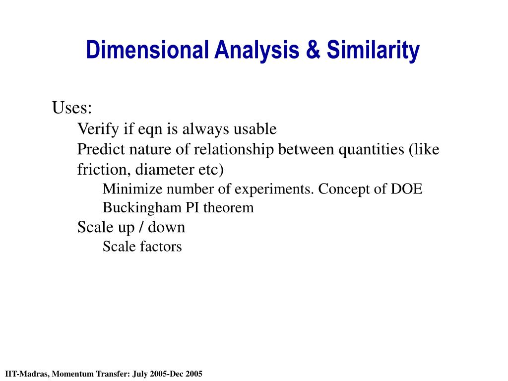 dimensional analysis similarity l.