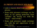 10 prison and male sex work