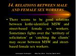14 relations between male and female sex workers