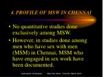 4 profile of msw in chennai