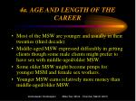 4a age and length of the career