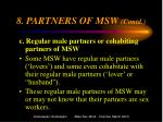 8 partners of msw contd1