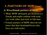 8 partners of msw contd2
