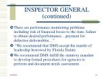 inspector general continued