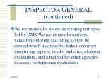 inspector general continued17