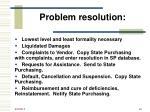 problem resolution