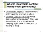 what is involved in contract management continued46