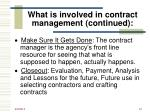 what is involved in contract management continued47