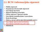 2 1 bcm i informacijska sigurnost
