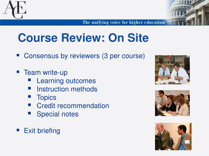 Course Review: On Site