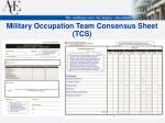 military occupation team consensus sheet tcs