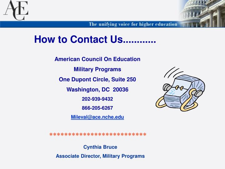 How to Contact Us............