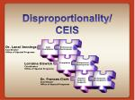 disproportionality ceis