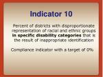 indicator 10