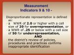 measurement indicators 9 10