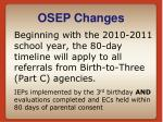 osep changes