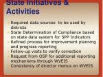 state initiatives activities