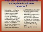 what osp activities initiatives are in place to address behavior13