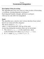 proximity constrained triangulation