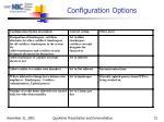 configuration options1