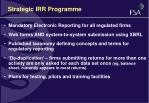 strategic irr programme
