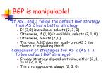 bgp is manipulable