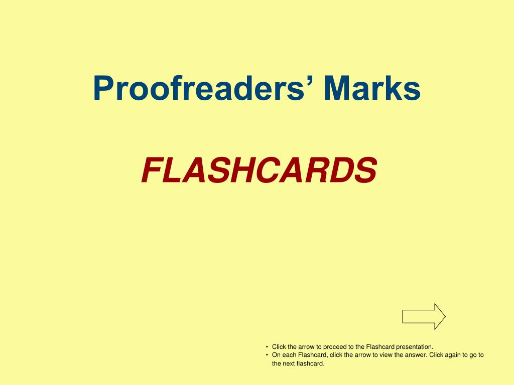 proofreaders marks flashcards l.