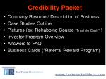 credibility packet