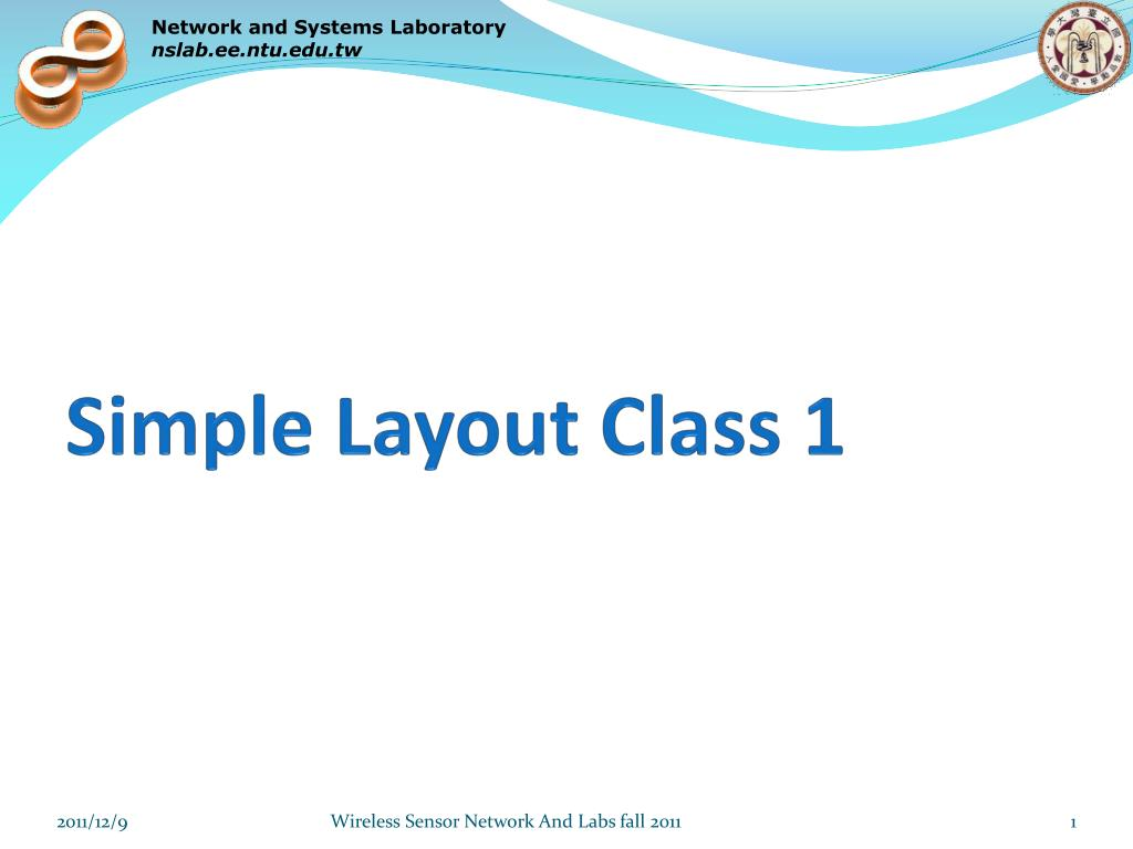 simple layout class 1 l.